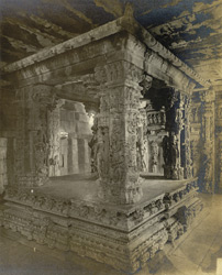 Interior view of Kalyana mandapam, Chennakesavasvami Temple, Sompalle, Madanapalle taluk, Cuddapah district